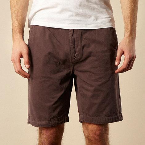 RJR.John Rocha - Dark mauve twill chino shorts
