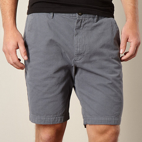 RJR.John Rocha - Big and tall designer dark grey chino shorts