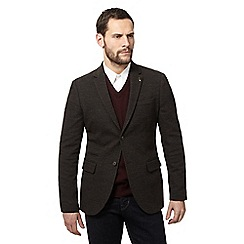 RJR.John Rocha - Big and tall dark green jersey blazer jacket with wool