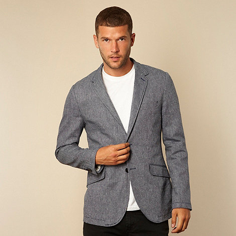 RJR.John Rocha - Fawn fine chevron patterned blazer jacket