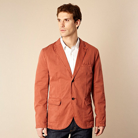RJR.John Rocha - Big and tall dark peach tailored lightweight jacket