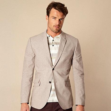 RJR.John Rocha - Designer fawn mini striped blazer