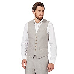 RJR.John Rocha - Big and tall natural linen blend waistcoat