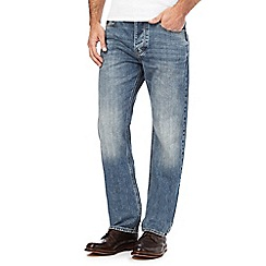 RJR.John Rocha - Blue cross hatch straight leg jeans