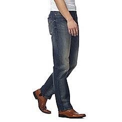 RJR.John Rocha - Mid blue vintage wash straight jeans