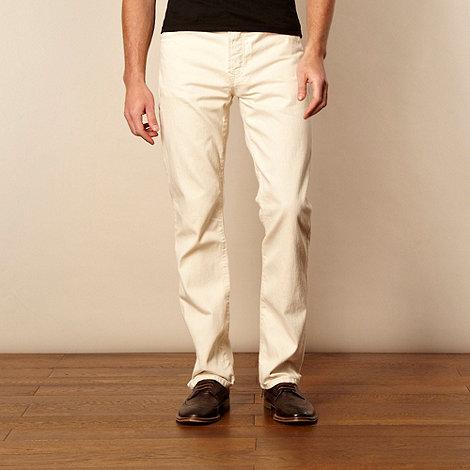 RJR.John Rocha - Designer off white straight leg jeans