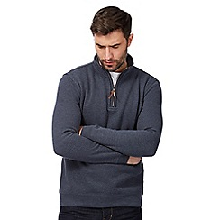 RJR.John Rocha - Navy zip neck sweater