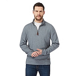 RJR.John Rocha - Big and tall grey zip funnel neck sweater