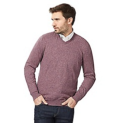 RJR.John Rocha - Big and tall pink marl v neck jumper