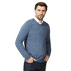 RJR.John Rocha - Big and tall light blue marl v neck jumper