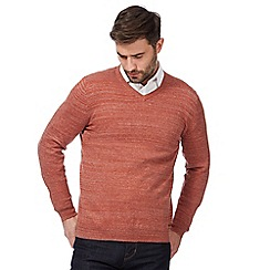 RJR.John Rocha - Big and tall orange v neck jumper