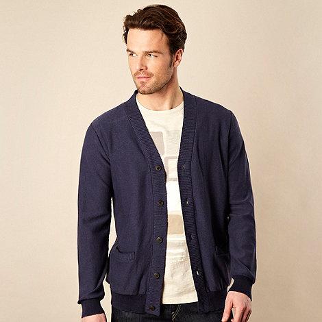 RJR.John Rocha - Navy cotton and linen blend knit cardigan