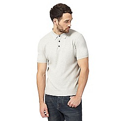 RJR.John Rocha - Big and tall natural textured polo shirt