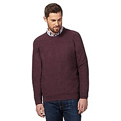 RJR.John Rocha - Big and tall purple moss stitch crew neck jumper