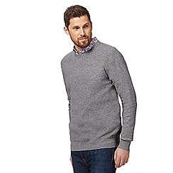 RJR.John Rocha - Grey moss stitch crew neck jumper