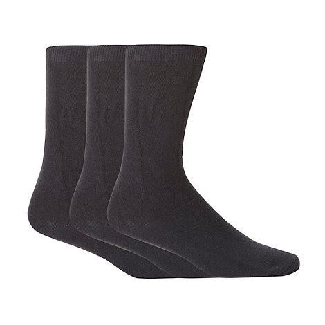 Thomas Nash - Pack of three navy plain socks