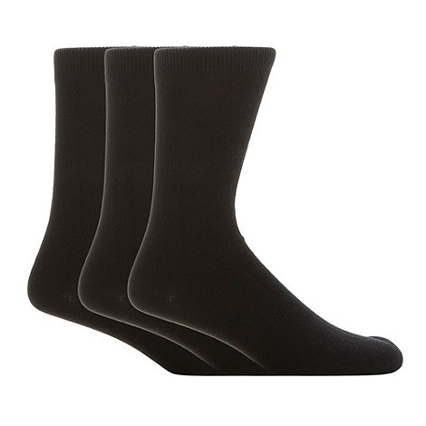 Thomas Nash - Pack of three black ankle socks