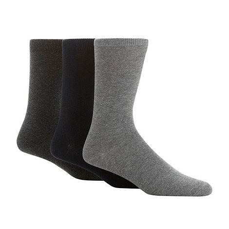 Thomas Nash - Pack of three grey and navy socks