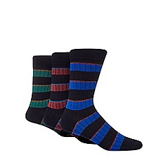 Hammond & Co. by Patrick Grant - Pack of three assorted ribbed striped socks