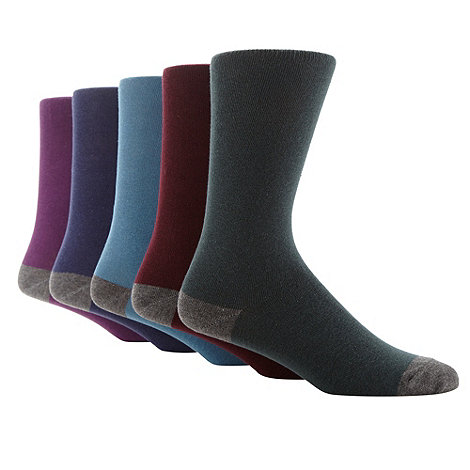 Freshen Up Your Feet - Pack of five plain grey heel and toe socks