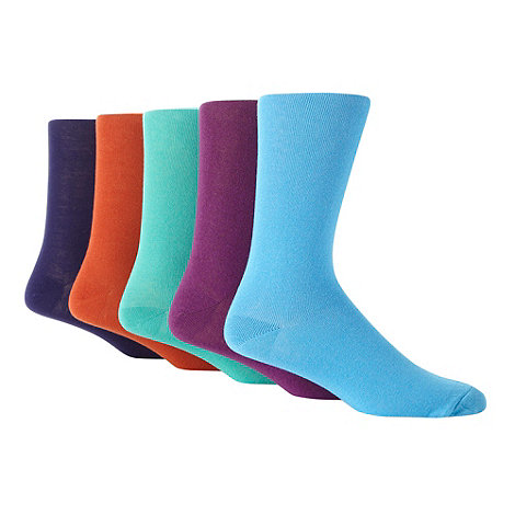 Freshen Up Your Feet - Pack of five plain colour socks