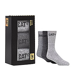 Caterpillar - Pack of three grey boot socks in a gift box