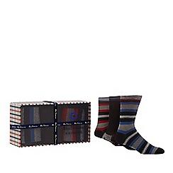 Ben Sherman - Pack of three multicoloured stripe socks in a gift box