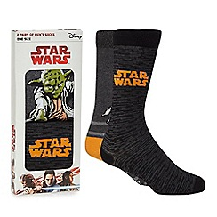 Star Wars - Pack of 2 black 'Star Wars' socks