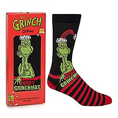 Star Wars - Black and red 'Merry Grinchmas' socks