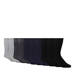 Debenhams - Pack of 10 assorted ankle socks