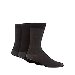 J by Jasper Conran - Pack of three black pin dot socks