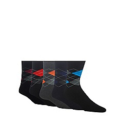 Freshen Up Your Feet - Pack of five assorted argyle socks