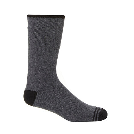 Maine New England - Pack of two dark grey thermal socks