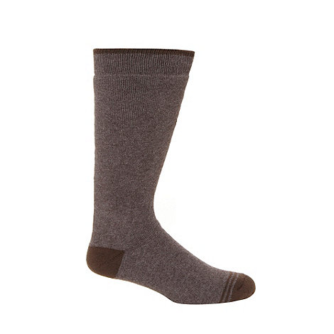 null - Pack of two brown thermal socks