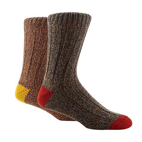 Mantaray - Pack of two chunky boot socks