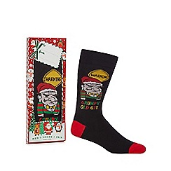 Debenhams Sports - Black 'Grumpy Old Git' novelty socks in a gift box