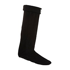 Mantaray - Black fleece welly socks