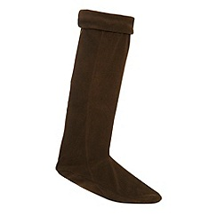 Mantaray - Khaki fleece welly socks