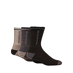 Ben Sherman - Pack of three beige sport combo socks