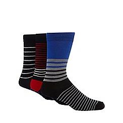 Ben Sherman - Pack of three blue striped socks