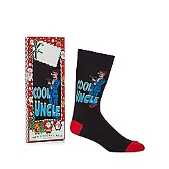 Debenhams Sports - Black 'Cool Uncle' novelty socks in a gift box