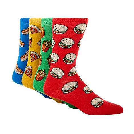 Red Herring - Pack of four fast food socks