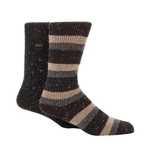 RJR.John Rocha - Designer heritage pack of two grey and dark grey fleck socks