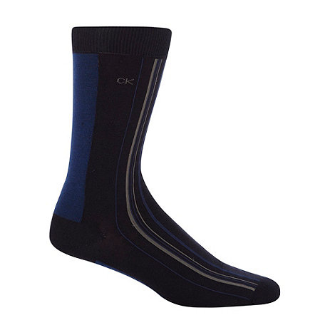 Calvin Klein - Dark blue racer striped socks