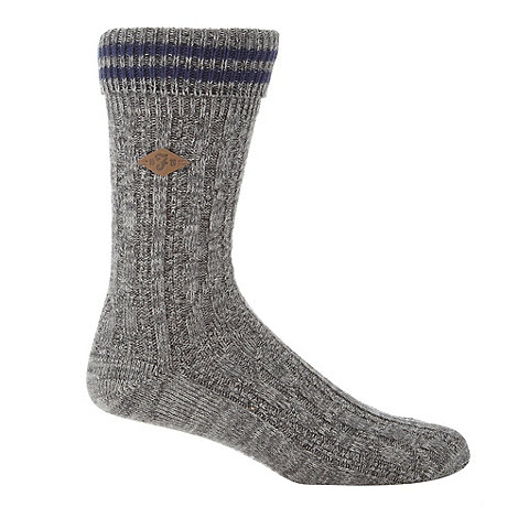 Farah - Grey cable knit boot socks