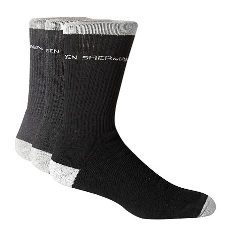 Ben Sherman - Pack of three grey sports socks