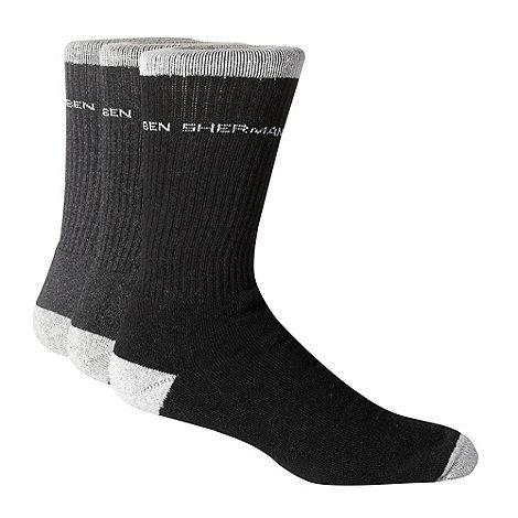 Ben Sherman - Pack of three grey sports socks