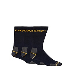 Caterpillar - Pack of three navy work socks