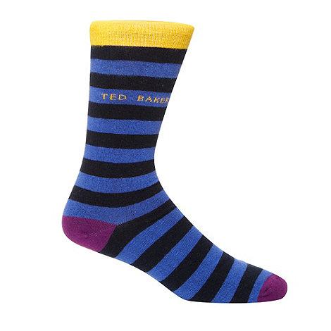 Ted Baker - Blue bold striped socks