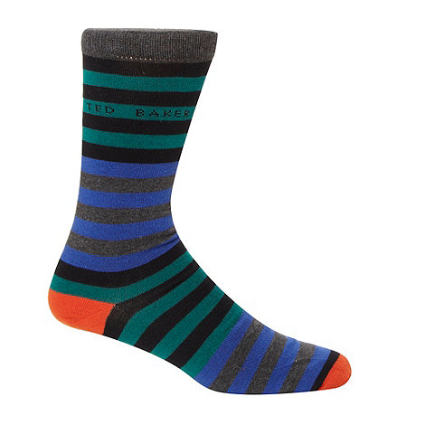 Ted Baker - Turquoise multi striped socks